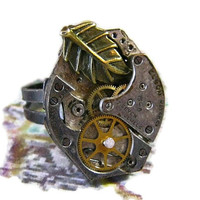 Steam Punk Ring by smithcait on Etsy