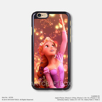 Rapunzel Lanterns Disney Princess iPhone Case Black Hard case 788