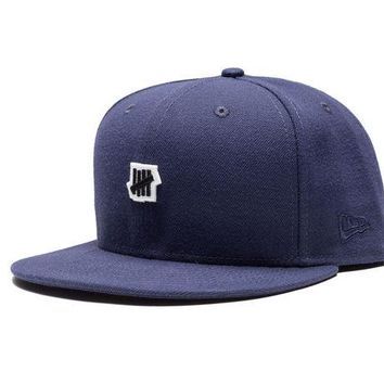 ONETOW Undefeated Small 5 Strike New Era Cap In Navy