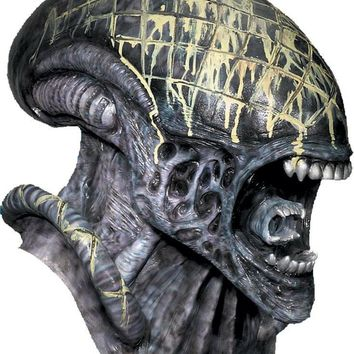 Alien Mask Deluxe awesome scary Horror Halloween Prop 2017