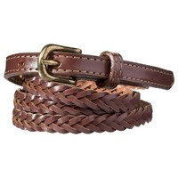 Merona® Skinny Braid Tab Belt - Brown