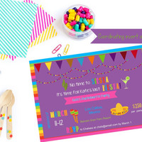 Printable fiesta bachelorette invitation / fiesta bachelorette party invite / bachelorette fiesta / fiesta invitation / mexico bachelorette
