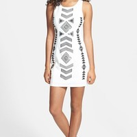 En Creme Geo Motif Sequin Dress (Juniors)