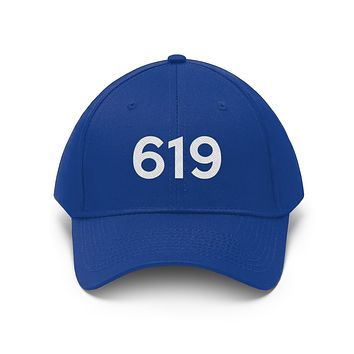 California 619 Area Code Embroidered Twill Hat