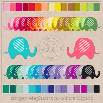 30 rainbow colors baby elephant clipart. cute elephants clip art for digital scrapbooking printing graphic design baby showers printables