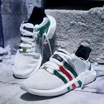 Best Online Sale Gucci x Adidas EQT Equipment Support 93/17 White Boost Sprot Shoes Running Shoes Men  Casual Shoes