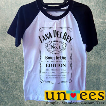 Lana Del Rey Born to Die Short Raglan Sleeves T-shirt