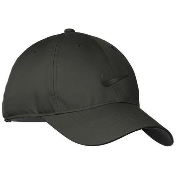 ESBON3F Nike Golf Dri-FIT Swoosh Front Cap, Anthracite/Black, OS