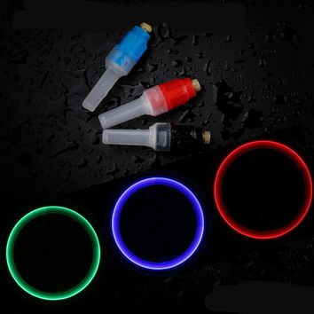 2PCS Bicycle Light Mountain Road LED Tyre Tire Valve Caps Wheel Spoke Glow Stick Light Cycling Gas Nozzle Bicycle Accessories