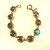 Catherine Popesco medium/round gold bracelet - Purple Haze
