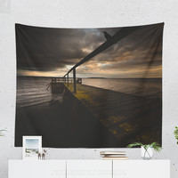 Wall Tapestry With Emotional Sunset Photography Print, Ocean Photo, Wall Art, Wall Decor, Home Decor, Original Photography, Dorm Decor, Boho