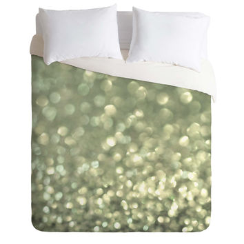 Lisa Argyropoulos Mingle 2 Silver Screen Duvet Cover