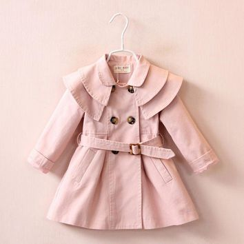Fashion Trench Jackets for Newborn Girl Children's Clothes Warm Spring Outerwear Coats Autumn Infant babies Girls Clothing 2017