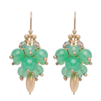 Ted Muehling Chrysoprase Bug Cluster Earrings