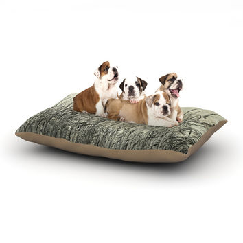 "Iris Lehnhardt ""Summer Grasses"" Neutral Gray Dog Bed"