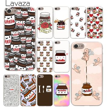 Lavaza chocolate Food Tumblr Nutella Hard Phone Cover Case for Apple iPhone 10 X 8 7 6 6s Plus 5 5S SE 5C 4 4S Coque Shell