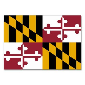 Patriotic table card with Flag of Maryland
