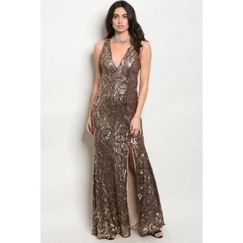 Party Sequin Maxi Dress