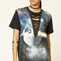 Lace-Up Pink Floyd Band Tee