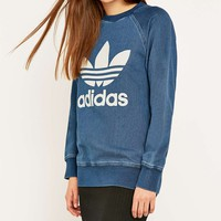 adidas Originals French Terry Denim Crew Sweatshirt - Urban Outfitters