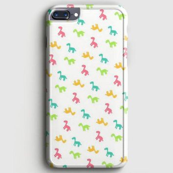 Colorful Dinosaur Dino Pattern iPhone 8 Plus Case | casescraft