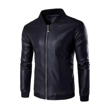 Msoup Dreamen's Pu Jackets Coats Motorcycle Leather Jackets Men Autumn Spring Leather Clothing Male Casual Coats Clothing M-4XL
