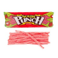 Sour Punch Straws 4.5-Ounce Trays - Strawberry: 24-Piece Box
