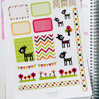 Oh Deer Decorating Kit / Weekly Spread Planner Stickers for Erin Condren Planner, Filofax, Plum Paper