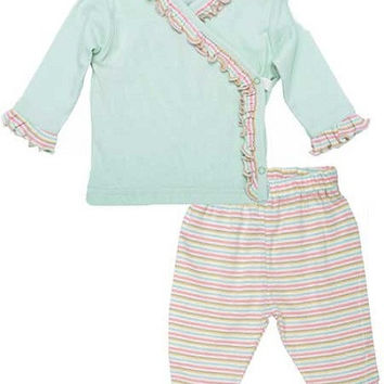 Girl's Set Butterfly Stripe - 6 to 9 mo.