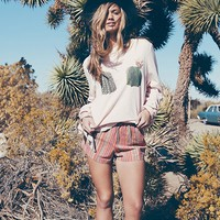 Wildfox Don't Touch Baggy Beach Jumper in Arizona Blush