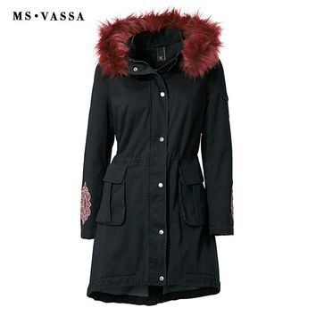 Women New Jackets Fashion Fleece Lining Ladies Jacket Plus Size Hoodie Faux Fur Cotton Outerwear