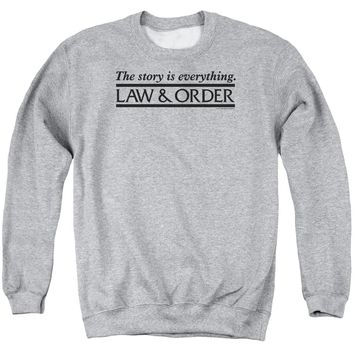 Law And Order - Story Adult Crewneck Sweatshirt