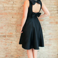 Ophelia Bow Back Dress - Black