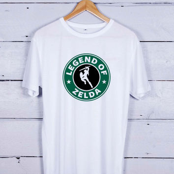 legend of zelda starbucks Tshirt T-shirt Tees Tee Men Women Unisex Adults
