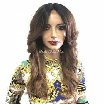 Blond Ombre Hair Lace Front Wig | 418 71