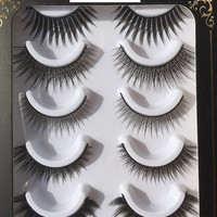 hand made false eyelash,  polished-tip eyelash, fake eyelash