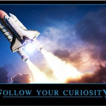 FOLLOW YOUR CURIOSITY motivational inspirational poster SCIENTIFIC 24X36