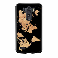 World Map On Wood Texture Print LG G3 Case