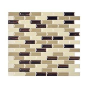 Smart Tiles, Murano Dune 10.20 in. x 9.10 in. Peel and Stick Decorative Wall Tile Backsplash in Beige (Box of 12 Tiles), SM1035-12 at The Home Depot - Mobile