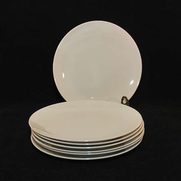 Vintage Mid Century Gladding McBean & Company Franciscan Fine China Encanto Salad Plates (c. 1950's) Cream Color, Simple Elegance