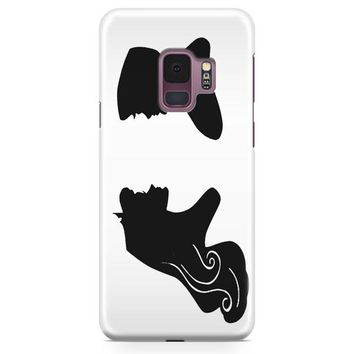 Handcut Paper Silhouettes Of Princess Samsung Galaxy S9 Plus Case | Casefantasy