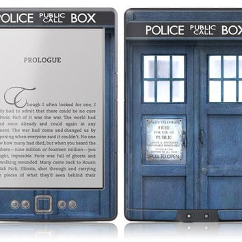 Amazon New Kindle Skin Cover - Tardis Doctor Who Police Call Box