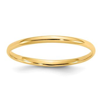 14k Yellow Gold Madi K. Polished Baby Ring - Children's Jewelry