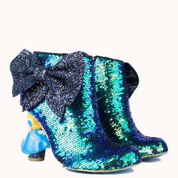 IRREGULAR CHOICE ALICE IN WONDERLAND WHO IN THE WORLD AM I BLUE SEQUIN - What's New