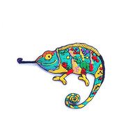 Gecko Embroidered Applique Iron on Patch