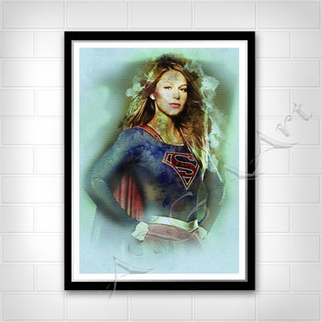 Supergirl, Supergirl poster, Instant Download, Supergirl print, teen room decor, Kara Zor-El poster, Melissa Benoist, superhero poster
