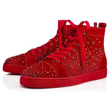 Best Online Sale Christian Louboutin Cl Galaxtidude Flat Rougissime Suede 17s Shoes 1170552r133