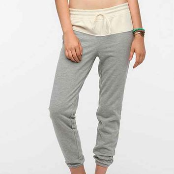 BDG Colorblock Slim Track Pant- White M