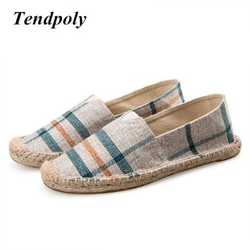 2018 China wind popular spring section lazy casual canvas Men's shoes for men and  weaving rope fisherman shoes pedal hemp shoes