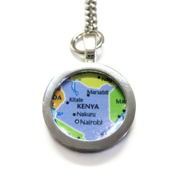Kenya Map Keychain